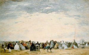 Eugène Louis Boudin - The Beach at Trouville
