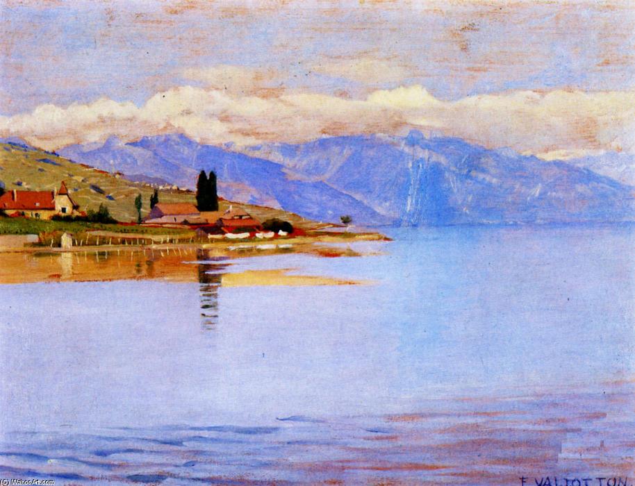 Der hafen von Pully ( studie ), 1889 von Felix Vallotton (1865-1925 ...