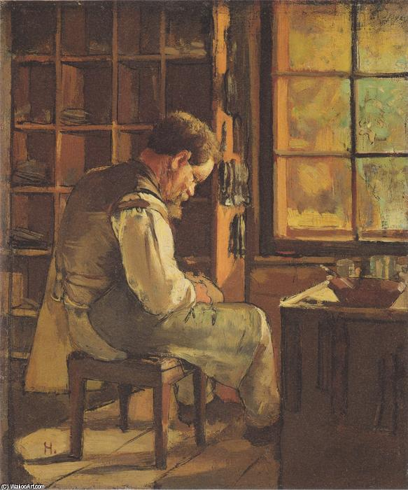 Il y a un petit cordonnier - Francis Jammes Ferdinand-Hodler-The-cobbler-by-the-window