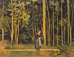 Ferdinand Hodler - Walking at the forest edge