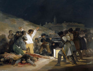 Francisco De Goya - The Third of May 1808 (Execution of the Defenders of Madrid) - (paintings reproductions)