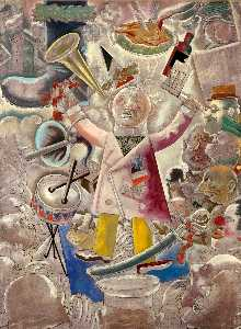 George Grosz - The Agitator - (paintings reproductions)