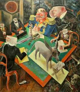 George Grosz - The Eclipse of the Sun - (Famous paintings)