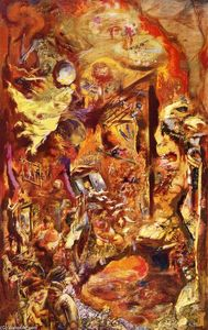 George Grosz - The Pit - (Famous paintings reproduction)