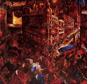 George Grosz - The City - (Famous paintings reproduction)