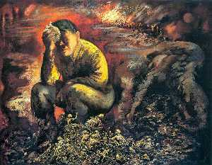 George Grosz - Cain or Hitler in Hell - (oil painting reproductions)