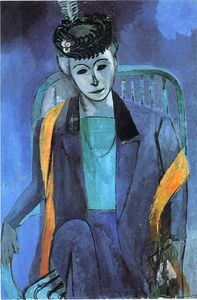 Henri Matisse - Portrait of Mme. Matisse - (oil painting reproductions)