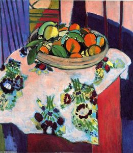 Henri Matisse - Basket with Oranges - (Famous paintings reproduction)