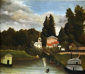 Henri Julien Félix Rousseau (Le Douanier) - the Mill at Alfor