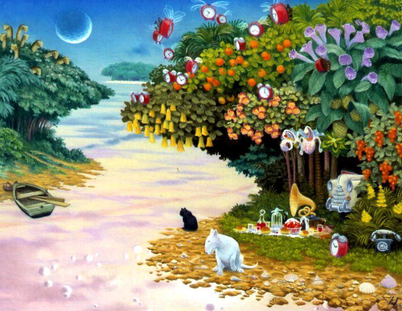 fantastico paesaggio di Jacek Yerka | Riproduzioni Di Quadri Famosi ...