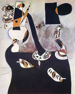 Joan Miro - Seated Woman II - (Famous paintings)