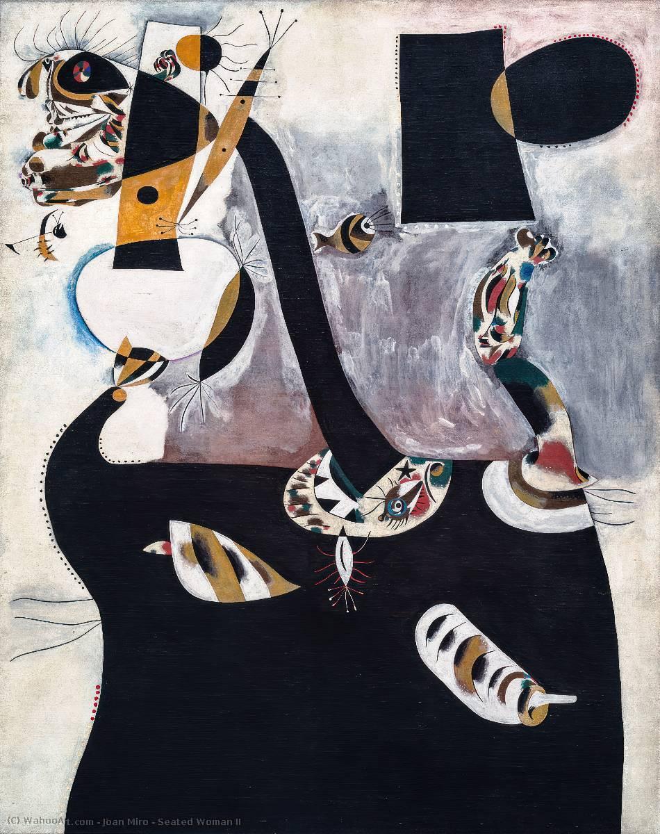 Donna seduta II, 1938 di Joan Miro (1893-1937, Spain ...