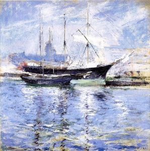 John Henry Twachtman - Bark and Schooner (also known as An Italian Barque)