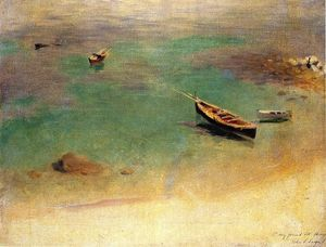 John Singer Sargent - Boat in the Waters off Capri - (oil painting reproductions)