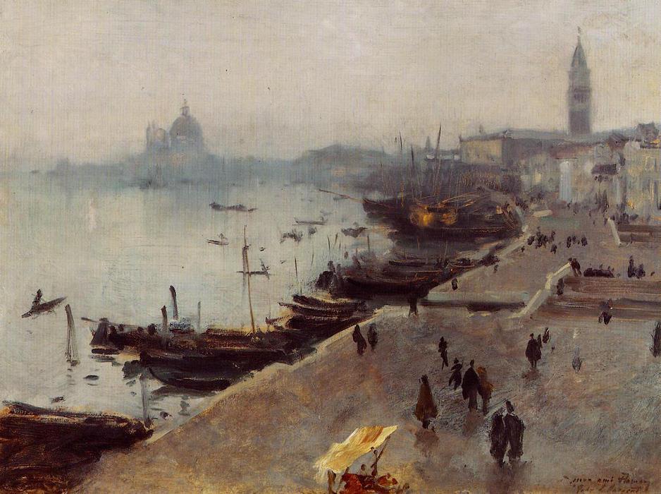 Ca s'est passé en avril ! John-Singer-Sargent-Venice-in-Grey-Weather