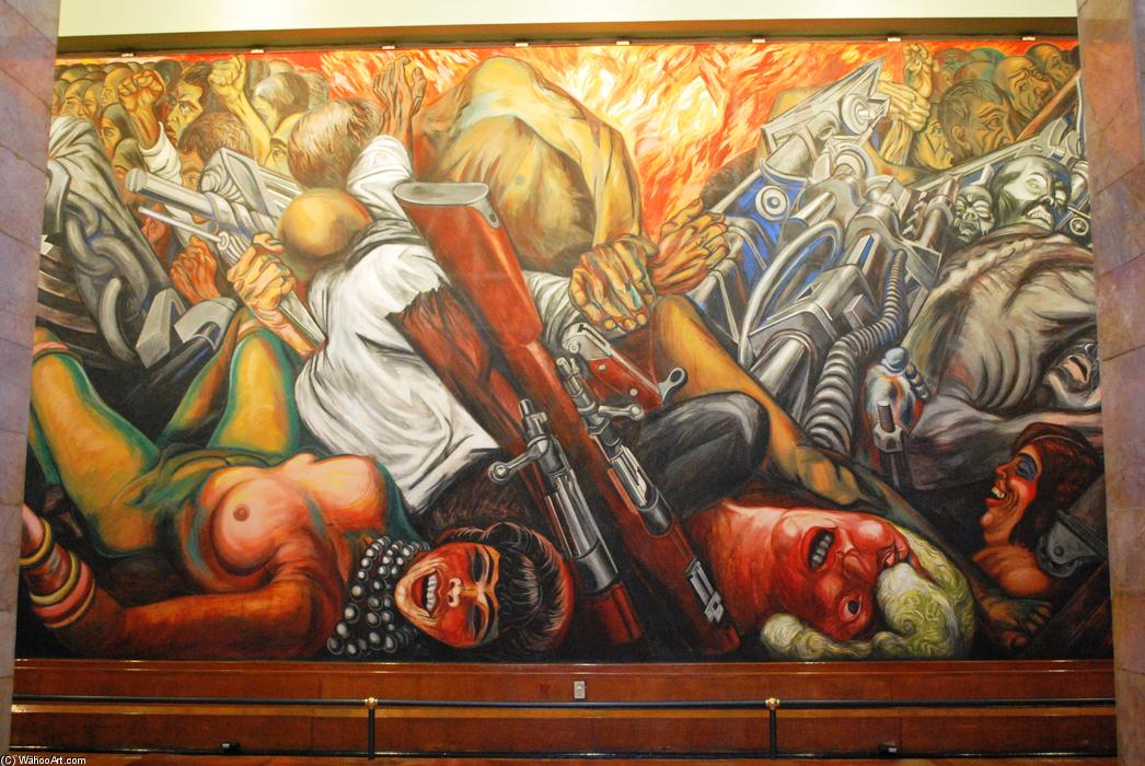 Catharsis, 1934 by Jose Clemente Orozco (1883-1949, Mexico) |  | WahooArt.com
