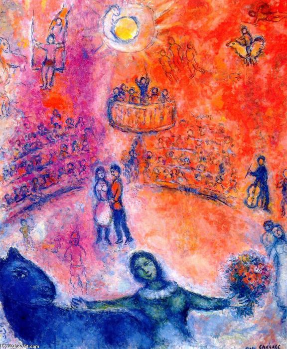 Circo, 1980 di Marc Chagall (1887-1985, Belarus) | Riproduzioni Di ...