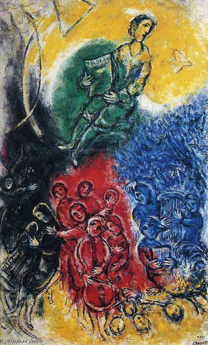 musica, 1963 di Marc Chagall (1887-1985, Belarus) | Riproduzioni Di ...