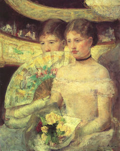 Mary Stevenson Cassatt - The Loge - (Famous paintings reproduction)
