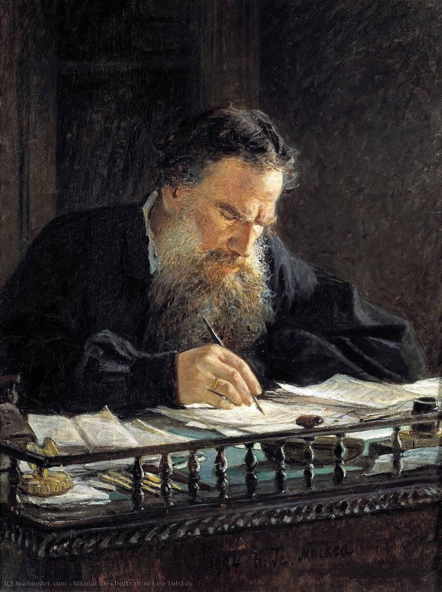 Retrato de Leon Tolstoy- Nikolai Ge  (Brainstorm IV)