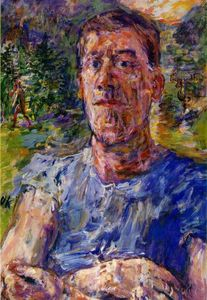 Oskar Kokoschka - Self-portrait of a 'Degenerate Artist' - (Famous paintings)