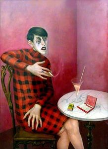 Otto Dix - Portrait of the Journalist Sylvia Von Harden - (paintings reproductions)