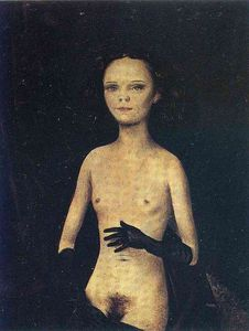 Otto Dix - Nude Girl with Gloves