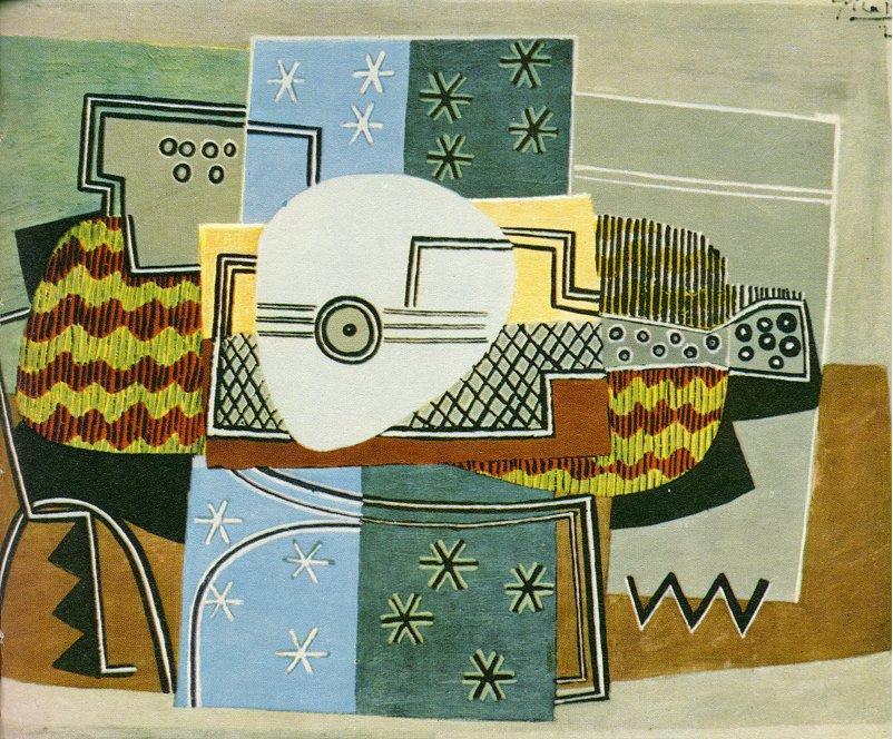 nature morte avec la mandoline , 1924 de Pablo Picasso (1881-1973, Spain) |  | WahooArt.com