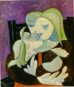 Pablo Picasso - Mother and child (Marie-Therese and Maya) - (Buy fine Art Reproductions)