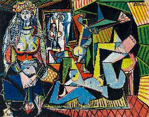Pablo Picasso - Women of Algiers (Version O) - (oil painting reproductions)