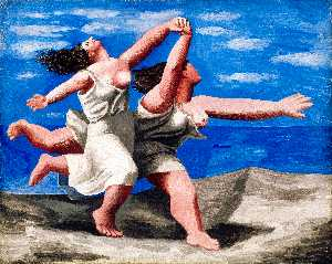 Pablo Picasso - Two women running on the beach (The race) - (paintings reproductions)