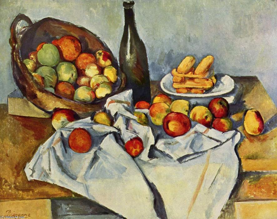 Basket of Apples, 1895 by Paul Cezanne (1839-1906, France) | Paintings Reproductions Paul Cezanne | WahooArt.com