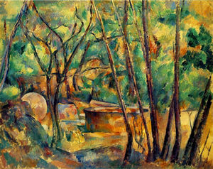 Paul Cezanne - Millstone and Cistern Under Trees