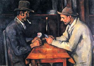 Paul Cezanne - The Card Players - (Famous paintings reproduction)