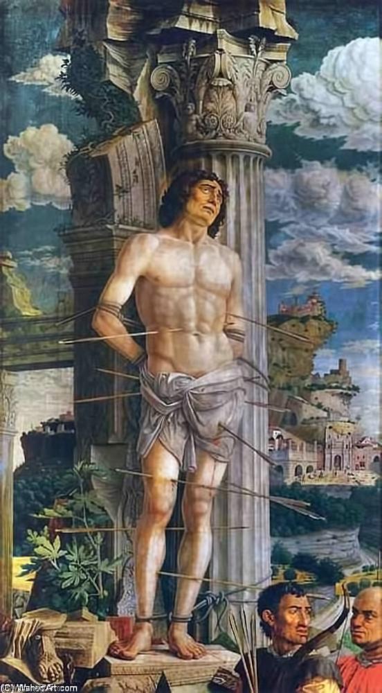 Rome Chrétienne et ses monuments - EUGENE DE LA GOURNERIE - 1867 Andrea_Mantegna-St_Sebastian