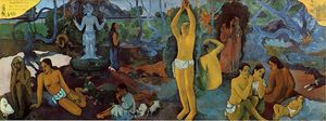 Paul Gauguin - Where Do We Come From. What Are We. Where Are We Going. - (Famous paintings reproduction)