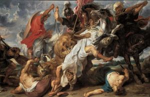 Peter Paul Rubens - The Lion Hunt - (paintings reproductions)