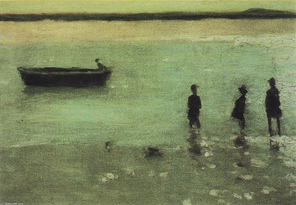 Beach at Etaples, 1887 by Philip Wilson Steer (1860-1942, United Kingdom) | Museum Art Reproductions Philip Wilson Steer | WahooArt.com