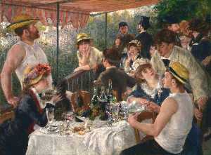 Pierre-Auguste Renoir - The Luncheon of the Boating Party - (Famous paintings reproduction)