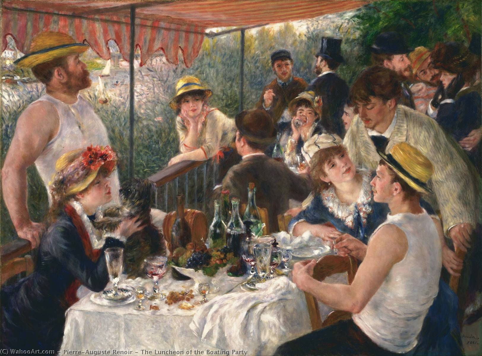 The Luncheon of the Boating Party, 1881 by Pierre-Auguste Renoir (1841-1919, France) | Art Reproductions Pierre-Auguste Renoir | WahooArt.com