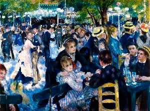Pierre-Auguste Renoir - Dance at Moulin de la Galette - (paintings reproductions)