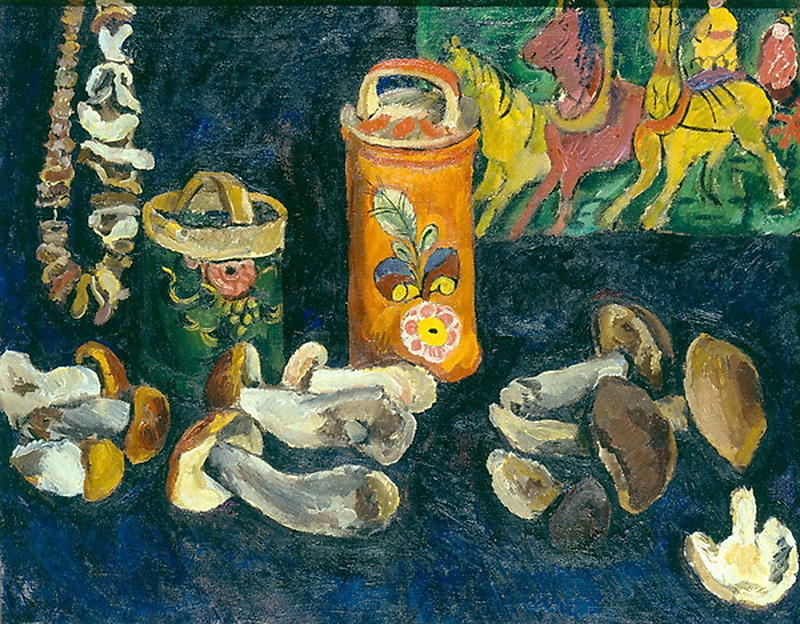 Mushrooms, 1911 by Pyotr Konchalovsky (1876-1956, Russia) | Museum Quality Reproductions | WahooArt.com