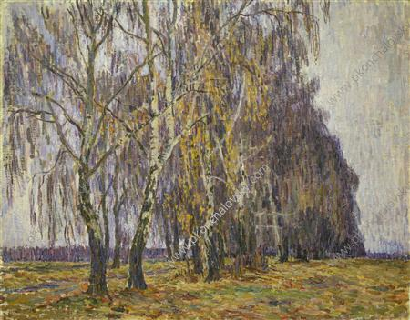 Belkino. Birches., 1907 by Pyotr Konchalovsky (1876-1956, Russia) | Famous Paintings Reproductions | WahooArt.com