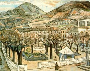 Rafael Zabaleta Fuentes - Garden of Quesada in winter