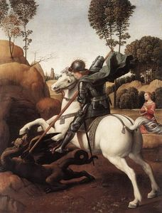 Raphael (Raffaello Sanzio Da Urbino) - St. George and the Dragon