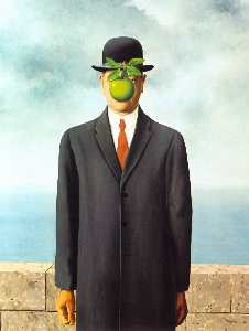 Rene Magritte - The Son of Man - (Famous paintings reproduction)