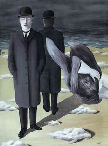 Rene Magritte - The meaning of night - (Famous paintings reproduction)