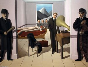 Rene Magritte - The Menaced Assassin - (Famous paintings reproduction)