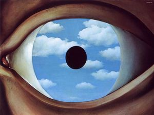 Rene Magritte - The false mirror - (oil painting reproductions)