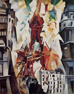 Robert Delaunay - Eiffel Tower - (Famous paintings reproduction)